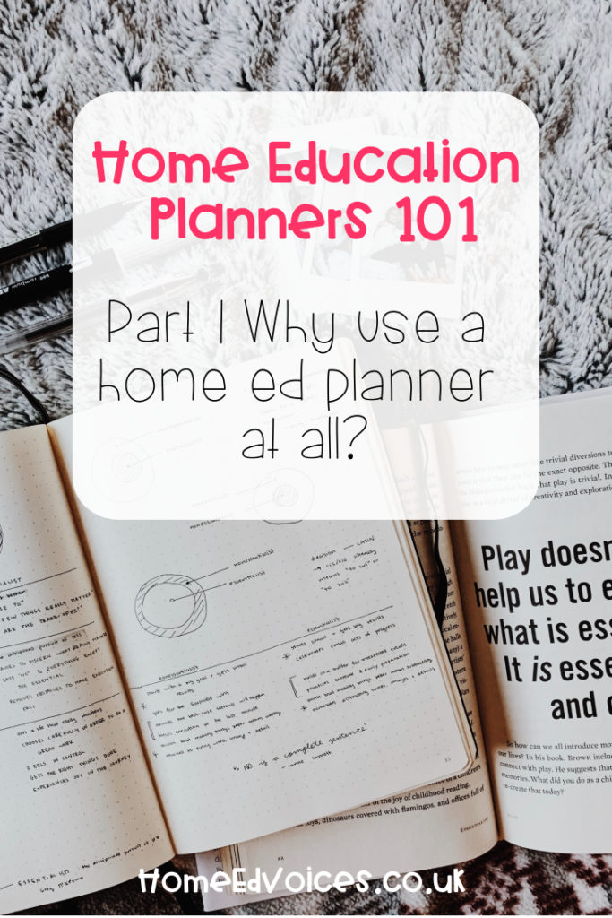 Home Education Planners 101 - Part 1: Why use a home ed planner at all?