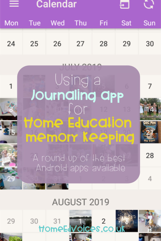 Rockin' Home Ed Record Keeping - Using a Journalling app for Home ed memory keeping