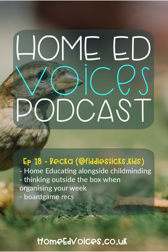 Home Ed Voices Podcast – (Season 2) Episode 17 – Becca (@Fiddlesticks.kids)