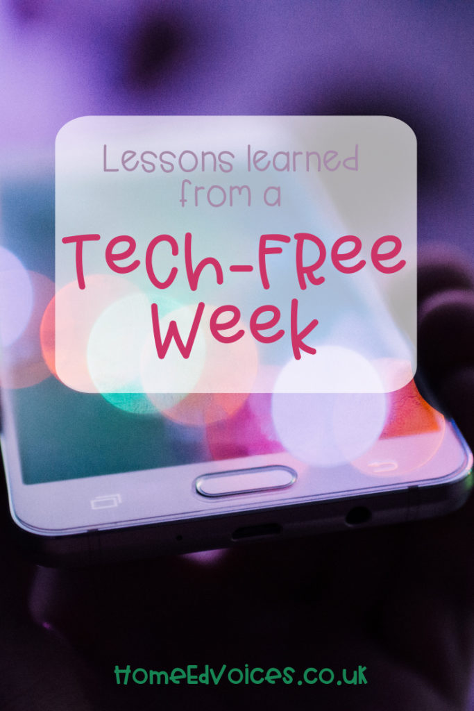 Lessons learned from a tech-free week