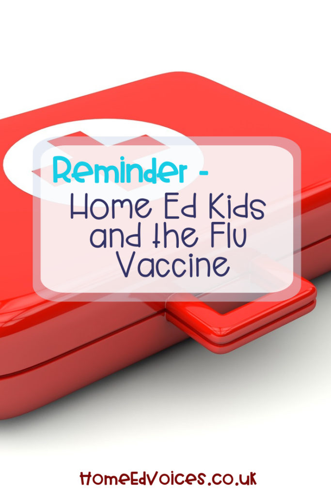 Reminder - Home Ed Kids and the Flu Vaccine