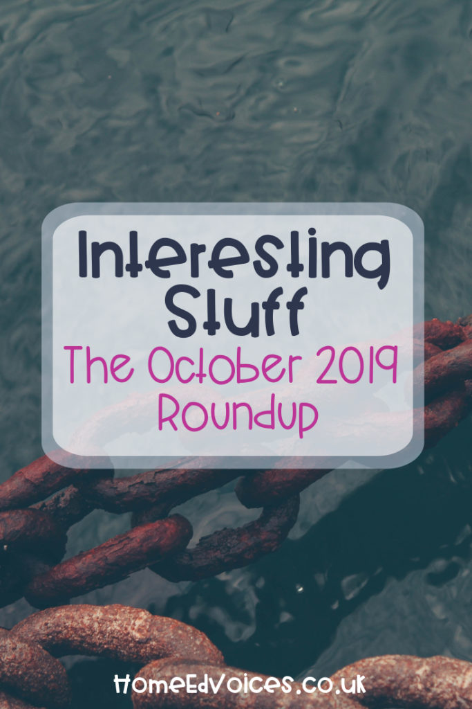 Interesting Stuff – The October 2019 Roundup