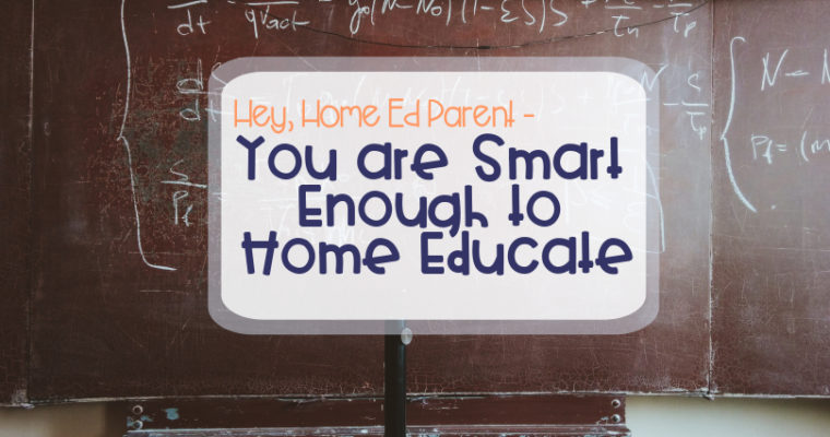 You are Smart Enough to Home Educate