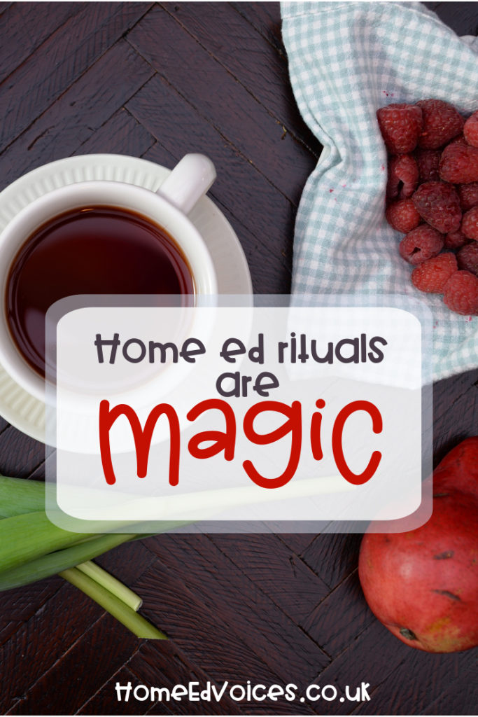 Home ed rituals are magic