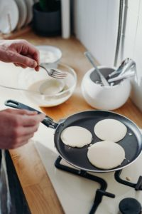 Pancake Day 2020 - Pancakes frying in a pan are a great example of everyday chemistry at work