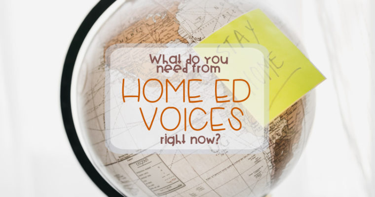 Hey home edder, What do you need from Home Ed Voices right now?