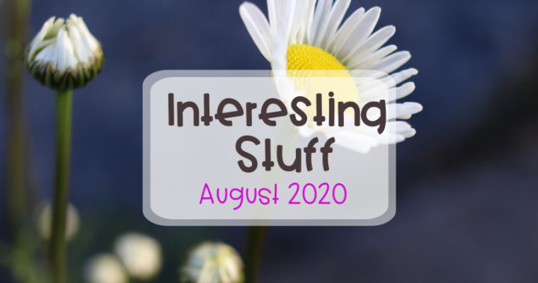 Interesting Stuff August 2020