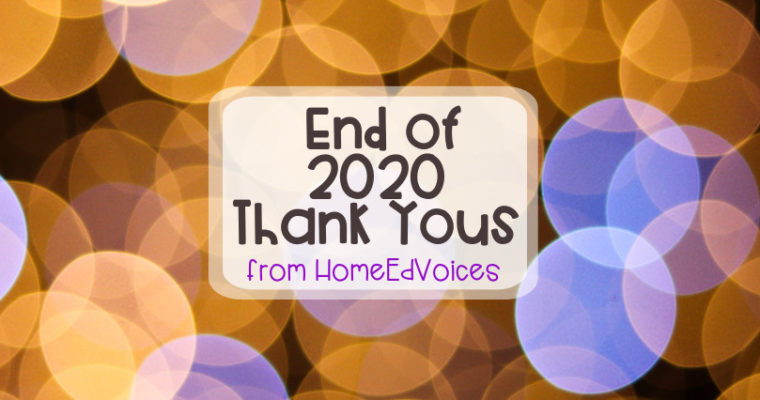 End of 2020 Thank Yous!