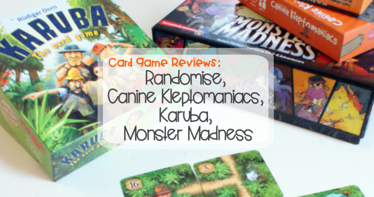 Card Game Reviews: Randomise, Canine Kleptomaniacs, Karuba, Monster Madness