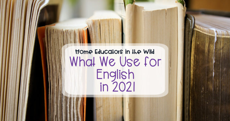 What we're using in 2021: English